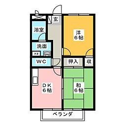 Surplus FUJIII[2階]の間取り