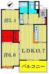 スペリオK−II[2階]の間取り