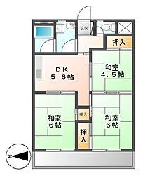 当知東住宅2号棟[10階]の間取り