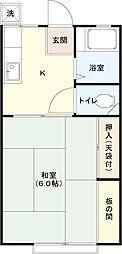 コーポ田中[206号室]の間取り