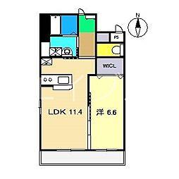 (仮)葛島新築マンション[3階]の間取り
