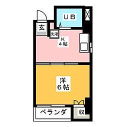 ファミール大梶[1階]の間取り