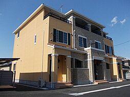 茨城県筑西市関本分中の賃貸アパートの外観