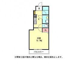 愛知県一宮市両郷町3丁目の賃貸アパートの間取り
