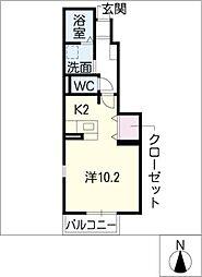 メロディーヒルズ[1階]の間取り