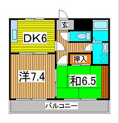 メゾン南浦和[4階]の間取り