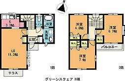 [テラスハウス] 埼玉県上尾市大字小泉 の賃貸【/】の間取り