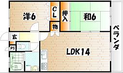 エル・スール湯川弐番館[3階]の間取り