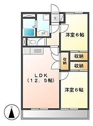 愛知県名古屋市守山区桔梗平1の賃貸マンションの間取り
