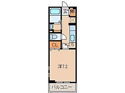 和歌山県和歌山市六十谷の賃貸アパートの間取り