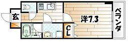 U-Basic reef 三萩野[6階]の間取り