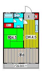 野村マンション[3階]の間取り