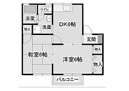 ナルセニューハイムII[1階]の間取り
