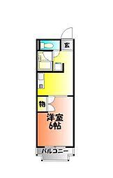 岡山県岡山市北区東古松南町の賃貸マンションの間取り