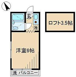 小山ハイツ[1階]の間取り