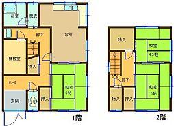 [一戸建] 鳥取県米子市旗ケ崎4丁目 の賃貸【/】の間取り