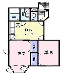 フューチャーT・O[1階]の間取り