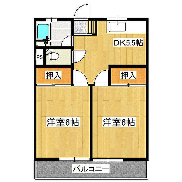 メゾン末広[3階]の間取り