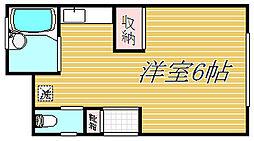 東京都中野区弥生町1丁目の賃貸アパートの間取り