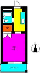 東京都世田谷区北沢2丁目の賃貸マンションの間取り