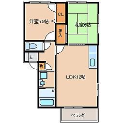 ビューパーク[2階]の間取り