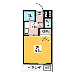 大嶋ハイツII[2階]の間取り
