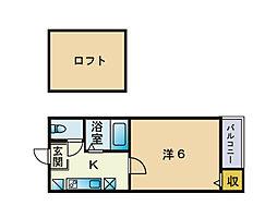 福岡県福岡市城南区田島4丁目の賃貸アパートの間取り