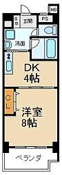 大阪府枚方市東中振2丁目の賃貸マンションの間取り
