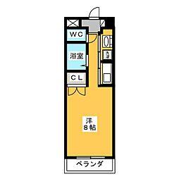 クランベリー巾下[3階]の間取り