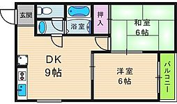 西田ハイツ[4階]の間取り