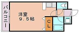 イトーピア天神東[3階]の間取り