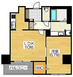 (仮)博多駅東3丁目プロジェクト[9階]の間取り