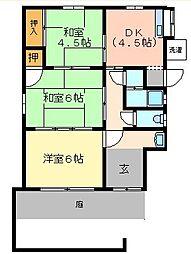 [一戸建] 兵庫県姫路市八代 の賃貸【兵庫県 / 姫路市】の間取り