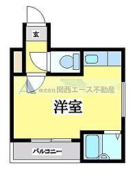 小阪ヴィラデステ[4階]の間取り