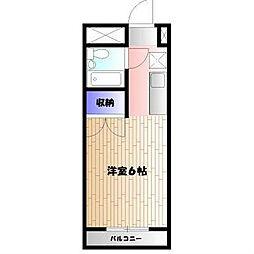 東京都町田市能ヶ谷2丁目の賃貸マンションの間取り