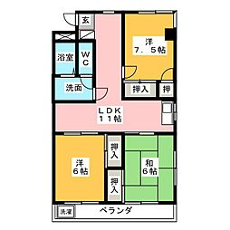 マンション泉[2階]の間取り