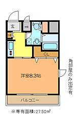 アルカサーノ新杉田[505号室]の間取り