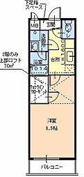 フジパレス浜寺諏訪森ノース[203号室]の間取り