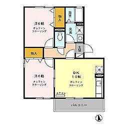 エスポワール富竹[2階]の間取り
