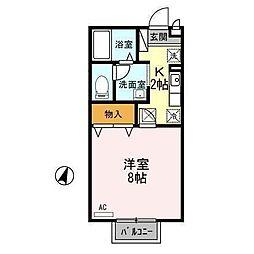 セジュール山田C[1階]の間取り
