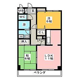 キングリー[2階]の間取り