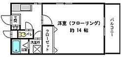 福岡県北九州市小倉北区三郎丸3丁目の賃貸マンションの間取り