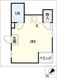 愛知県名古屋市東区矢田4丁目の賃貸マンションの間取り