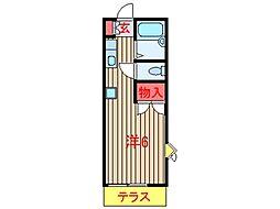 ハイツリコー (0010)[103号室]の間取り
