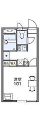長野県松本市中央3丁目の賃貸アパートの間取り