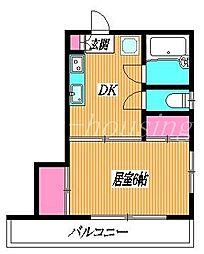 東京都武蔵野市関前3丁目の賃貸アパートの間取り