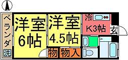 コーポ三慶[202号室]の間取り