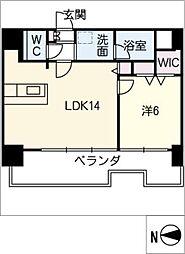 FIRST RESIDENCE SAKAE[6階]の間取り
