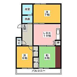 ハイツ五反田[2階]の間取り