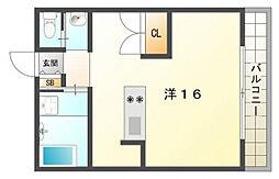 高木マンション[3階]の間取り